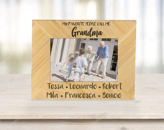 Personalized Father/'s Day Gift For Dad Custom Photo Frame  {My Favorite People...}  Personalized Picture Frame Gift for Dad/'s Birthday