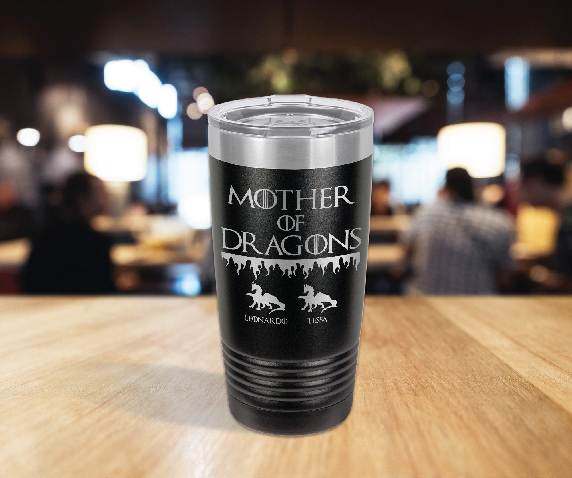 Game Of Thrones Mother Of Dragons Mothers Day Personalized Gift Laser Engraved 20oz Tumbler Things Never Forgotten
